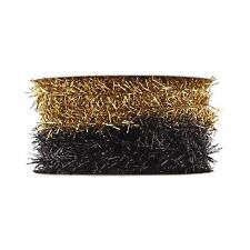 Gold/Black Ribbon 30ft - Wondershop Christmas Gift Ribbon for gift Wrapping