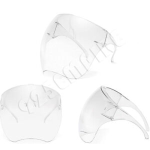 Unisex Clear Face Shield Mask Transparent Reusable Visor Anti-Fog
