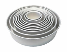 PME Round Shaped Cake Pan Baking Tin Mould Wedding Baking 3 4 Inch Deep All Size