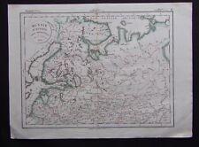 § carte Russie d'Europe partie septentrionale - Félix Delamarche 1828