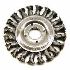 Flat Twist Knot Wire Wheel Brush 115mm 22.2 Bore Deburring Angle Grinder TE579