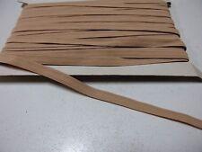 Braided Elastic Width 12mm, 1 Metre Length, Flesh Colour, Suit Dance Shoes Strap