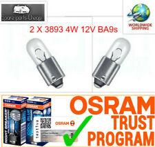 2x 3893  4W 12V BA9s OSRAM Sidelight bulb interior indicator panel halogen