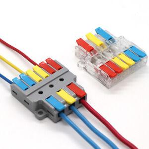 5 tlg Sortiment Klemmen Verbindungsklemme Kabelverbinder Schnellverbinder DE