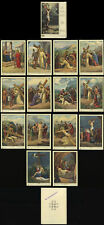 santino-holy card*ediz. NB -VIA CRUCIS serie completa