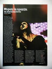 """COUPURE DE PRESSE-CLIPPING :  MARILYN MANSON 12/2002 Report """"Guns, God And Gover"""