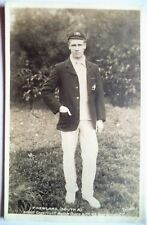 Phil Newland Australia 1905 Ralph Dunn Cricket Foto Real Postal