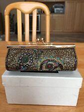 Vintage Japan Made Lumy Brand Mini Beaded Clutch Bag with Gemstone Design
