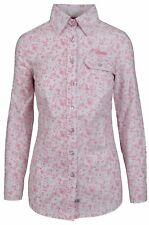 L' ARGENTINA Damen Bluse Women Shirt Größe 38 M Baumwolle & Elasthan Rosa Pink