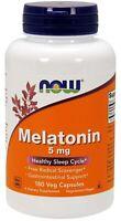 NOW FOODS MELATONIN 5MG | 180 VEGE CAPSULES HEALTHY SLEEP CYCLE | FREE SHIPPING!