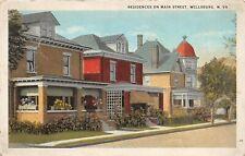 F42/ Wellsburg West Virginia Postcard 1924 Residences Main Street Homes 5