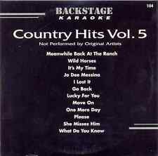 Country Hits Vol. 5 Karaoke Backstage Vol. 5117 CD+G New and Sealed