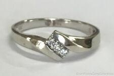 Estate Jewelry Ladies 0.06 Ctw Diamond Ring 10K White Gold Band Size 7