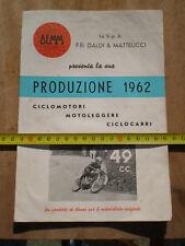 PUBBLICITA DEPLIANT ADVERTISING ORIGINALE DEMM 1962 PRODUZIONE CICLO MOTORI SS