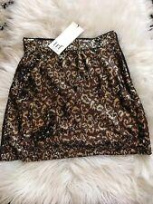 ZARA Leopard Print Sequin Mini Skirt Size Small BNWT Party Xmas