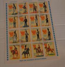 Stamps Napoleon (Republica de Guinea Ecuatorial) Uniformes Militares 16 Total