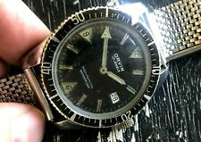 Rare 1960's ORVIN Broad Arrow Original Dial Diver Rotating Bezel RUNS STEEL