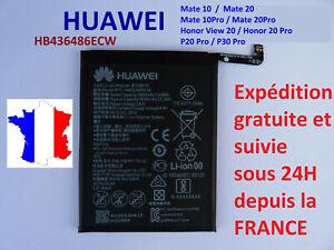 Batterie pour HUAWEI P20 PRO / Mate 10 et 20 PRO / P30 PRO   réf HB436486ECW