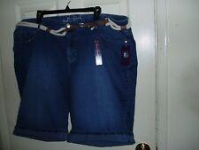c2f34327e68 New GLORIA VANDERBILT Plus 22W Denim Bermuda Shorts  46 w  Belt  0 S H