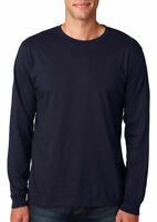 Anvil Men's Lightweight Cotton Long Sleeve Casual Ribbed Cuffs T Shirt. 949