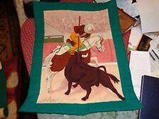 Original de Pa Campa :Mixed media painted on canvas-Bilboa Spain,,Bullfightsigne