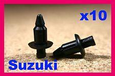 10 SUZUKI Motorcycle motor bike Fairing panels fasteners Trim Push Fit Rivet 6mm