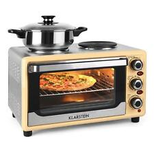 ELECTRIC MINI OVEN HOB COOKER COMBO HOT PLATE 1500W PORTABLE  TRAVEL COOKING