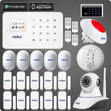KERUI G18,720P WiFi IP Caméra Accueil Intruder UI Menu GSM Siren Alarme +clavier