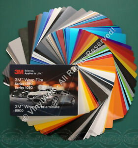 Farbfächer 3M - Wrap Film 1380/1080 & Wrap Overlaminate 8900