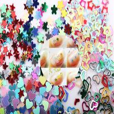 3mm Glitter 5000Pcs Mixed Heart Star Flower Stickers Decals Nail Art DIY U87