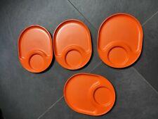 Piattini Tupperware arancioni pic-nic 4 arancio piatto ciotola