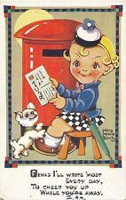 POSTCARD   COMIC   Children  Related   Post  Box  Letter...     Birch