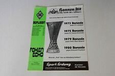 More details for uefa cup final (1st leg) (1980) borussia mb v eintracht frankfurt programme