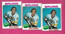 3 X 1975-76 OPC # 375 BRUINS DOUG GIBSON  ROOKIE  CARD (INV# D0795)