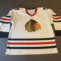 Vintage Blackhawks Jersey Mens M 90s NHL Hockey Chicago  Hockey Sewn CCM Jersey