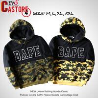 NEW Unisex BAPE Bathing Hoodie Camo Pullover Lovers Fleece Sweats Coat Jacket
