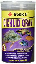 Tropical CICHLID GRAN sinking granules with high content of protein 250ml 1000ml