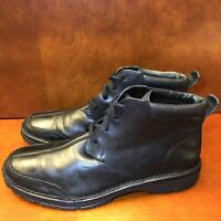 Men's Vintage Cole Haan Black Leather Boots Waterproof US 12 M C07754 Split Toe