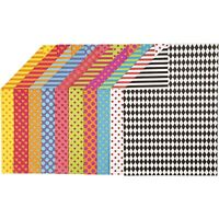 Patterned Card - Spot Stripe Heart - A4 x 20 Sheets Assorted Colours - Craft