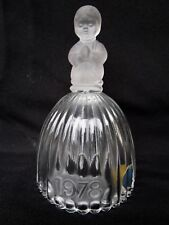Goebel  Clear Crystal Bell  With Frosted Praying Child  -  1978