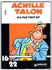 ACHILLE TALON ¤ AT N'A PAS TOUT DIT ¤ 1980 DARGAUD 16/22 n°1