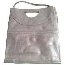 Comptoir des Cotonniers - Sac pochette en cuir gris patiné - authentique