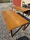 """Vintage 72""""oak library table School House 2 Available for home school k-4"""