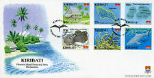 Kiribati 2008 FDC Phoenix Island Protected Area 6v Set Cover Birds Sharks Stamps