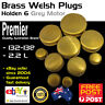 Grey Motor Brass Welch Welsh Freeze Core Plug Set Kit Fits Holden 6cyl 1948-63