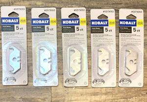 Lot Of 5 Kobalt Universal Utility Knife Hook Blades 5-Packs 25 Total Blades