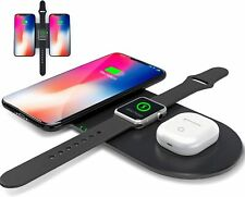 Wireless Charger, 3 in 1 Fast Wireless Charging Pad, Multi Devices Station