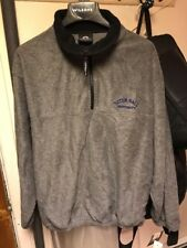 Seton Hall March Madness Pirates Pull Over Embroidered Grey Black LARGE Vtg