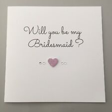 Will You Be My Bridesmaid/ Maid of Honour / Flower Girl / Greetings Card - FSGHD
