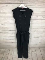 TED BAKER Jumpsuit - Size 2 UK10 - Black - Great Condition - Women's
